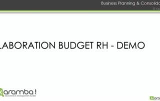 Demonstration d'un outil budgétaire RH